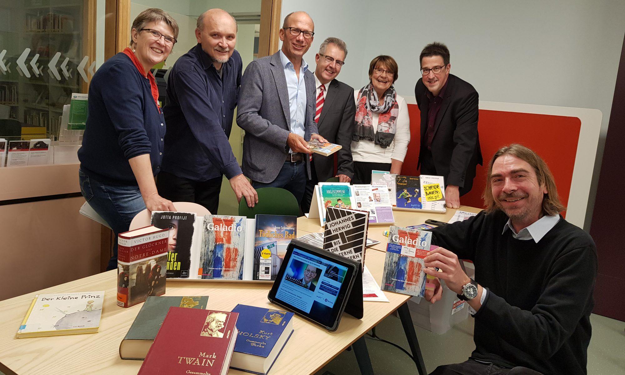 Gruppenbild bei der Programmvorstellung der Literaturtage 2018